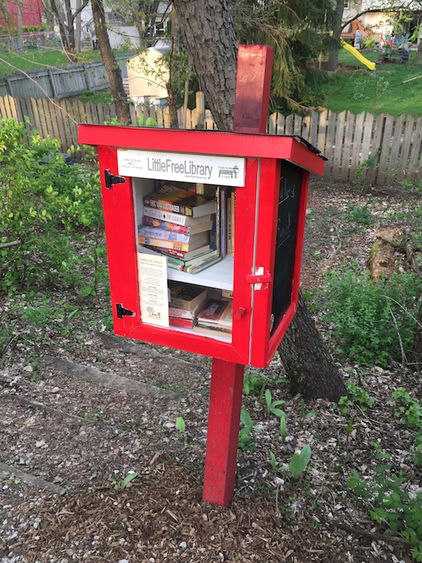 Small Free Library at Constitution Trail, Normal